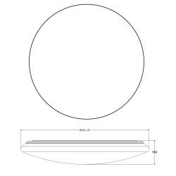 Plafón LED 100W Sever redondo estrellas (80cm)