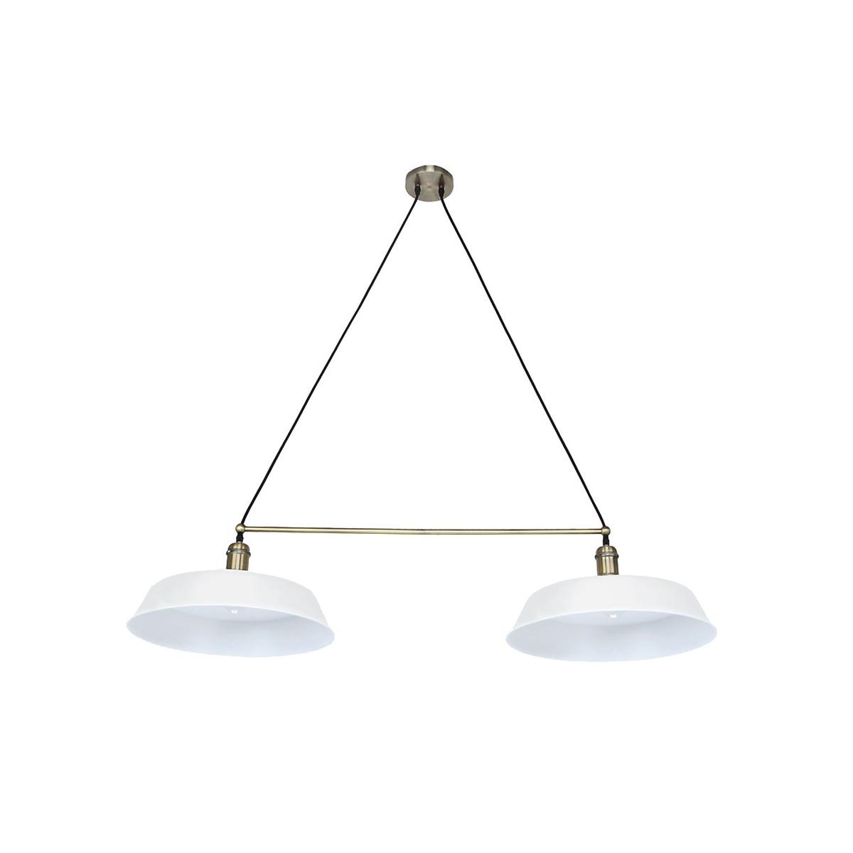 """Lámpara LED """"PARIS"""" 2 luces blanco mate"""