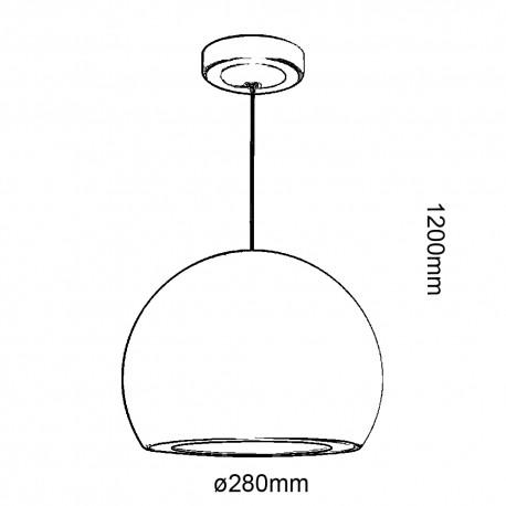 Lámpara de techo gris 20w Zoes