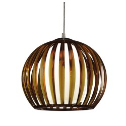 Ceiling lamp Topacio in amber colour