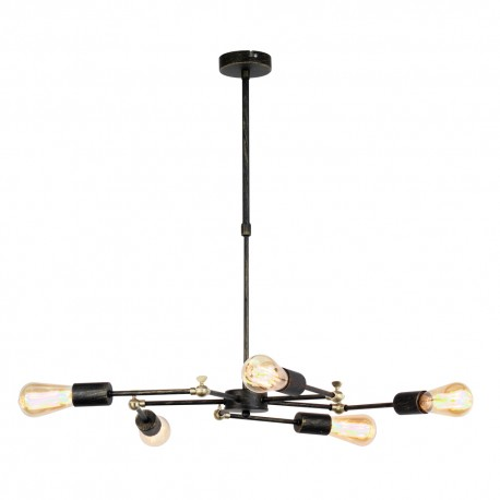 Lámpara ATOMIC NEW 5 brazos negro
