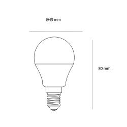LED Bulb G45 E14 5W 4500K