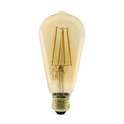 Gold LED Bulb ST64 8W 2700K