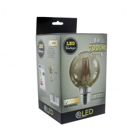 Caja Bombilla LED G125 8W 4000K fumé