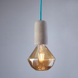 Concrete Pendant Lamp Blue