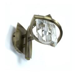 Cheye Wall Light Brass 1xG9 Oval Optic Glass