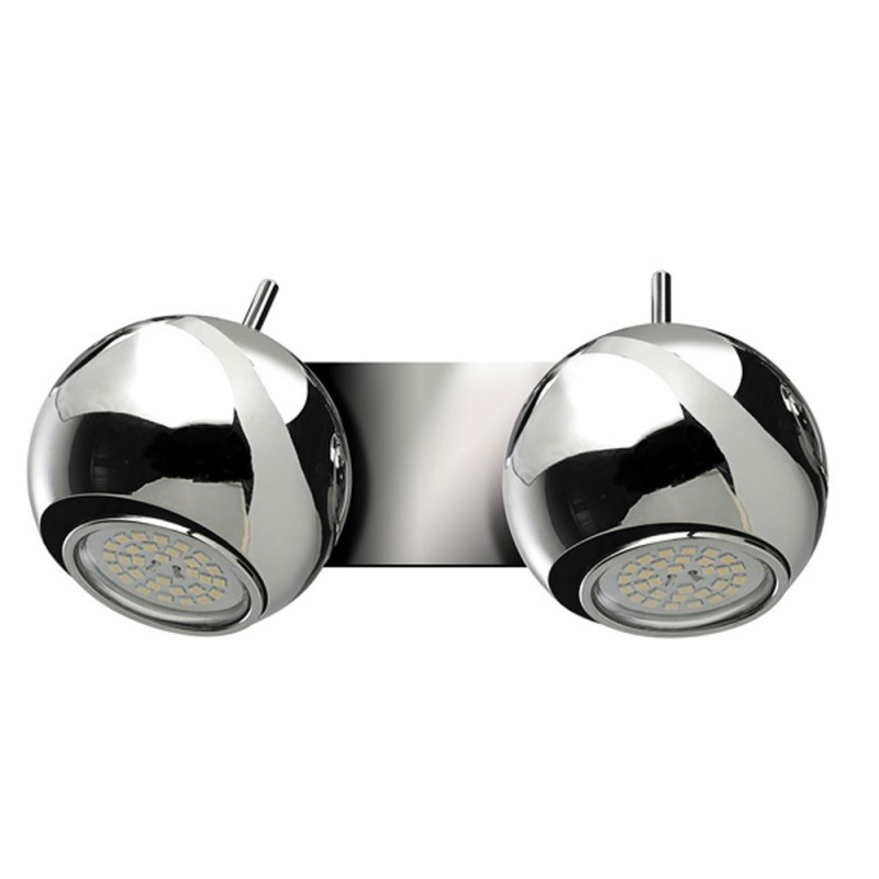 Sonar Double Wall Spotlight 2XGU10 Polish Chrome