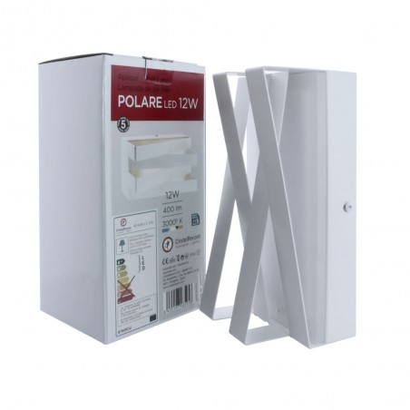 Aplique de pared LED 12W Polare con su caja en vertical