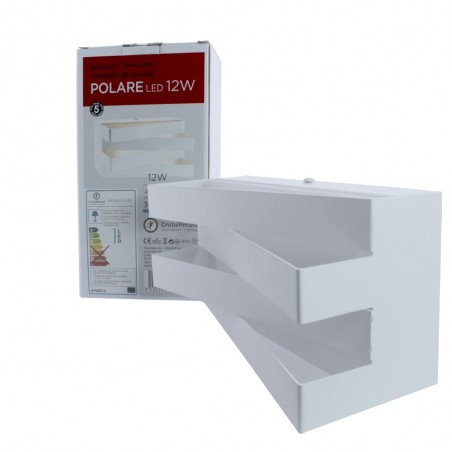 Aplique de pared LED 12W Polare con su caja