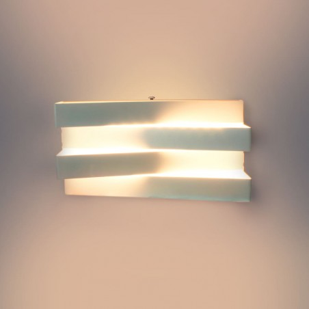 Aplique de pared LED 12W Polare encendido vista frontal