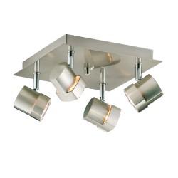 Moka 4-Light Ceiling Plate Satin Nickel