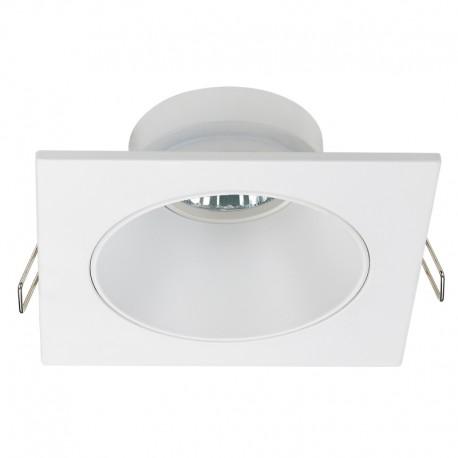 Zeus Fixed Recessed Light Squared White IP23