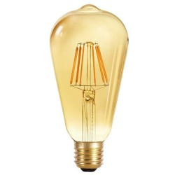 Dimmable E27 Light Bulb ST64 8W 800Lm 2700K Gold