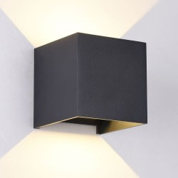 Cube Outdoor LED Wall Lamp IP54 2x5W 3000K Anthracite