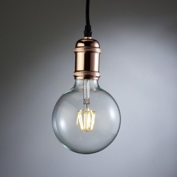 Polished Copper Pendant Lamp Holder
