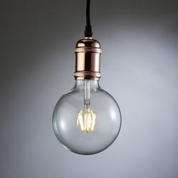Polished Copper Pendant Lamp Holder