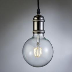 Polished Graphite Pendant Lamp Holder