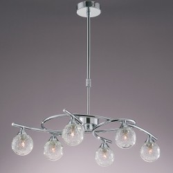 Lotto 6-Light Pendant Lamp Chrome