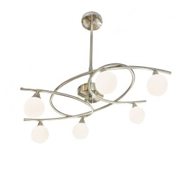 Lotto 6-Light Pendant Lamp Satin Nickel