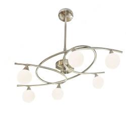 Lotto 6-Light Pendant Lamp Satin Nickel