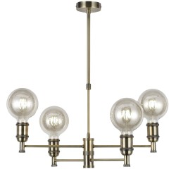Miyako 4-Light Pendant Lamp Antique Brass