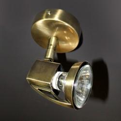 Arco Single Spotlight Brushed Brass