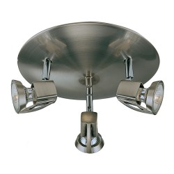 Arco 3-Light Ceiling Plate Matt Nickel
