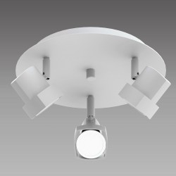 Moka 3-Light Ceiling Plate White