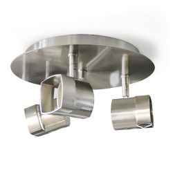 Moka 3-Light Ceiling Plate Nickel