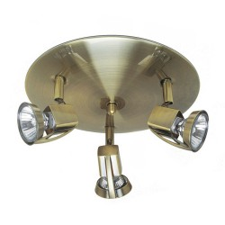 Arco 3-Light Ceiling Plate Brushed Brass