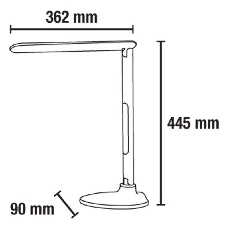 Star LED Desk Lamp Black 10W