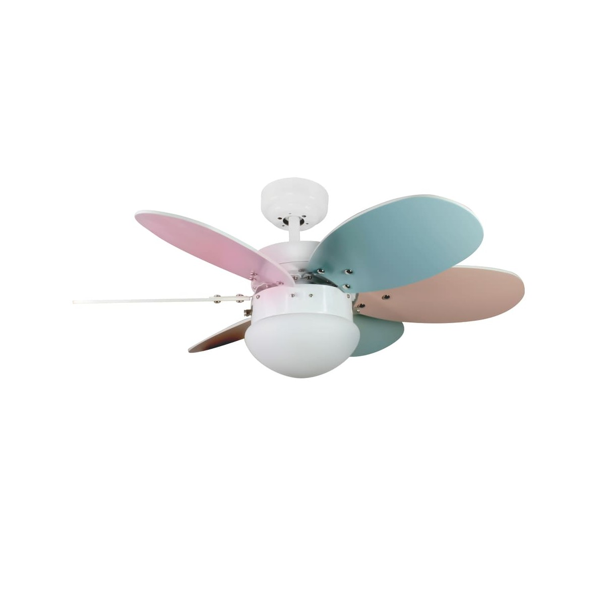 Orion AC Ceiling Fan with Light Pastel Multicoloured