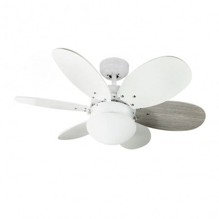 Orion AC Ceiling Fan with Light White-Ash