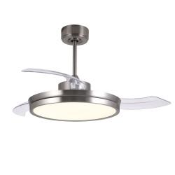 Ventilador DC Areca níquel Led 48W CCT