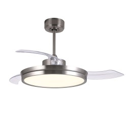 Ventilateur DC Areca nickel Led 48W 3CCT
