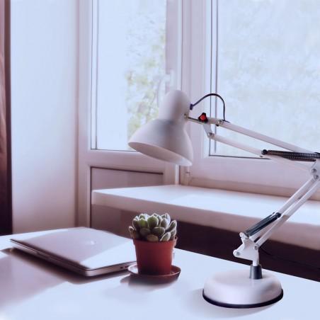 Luxo White Desk Lamp