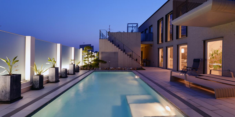 Strip Lights in Swimming pool