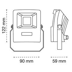 Medidas proyector bars 10w