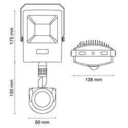 proyector con sensor bars medidas